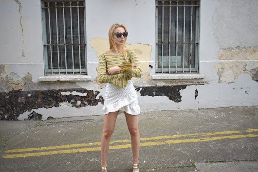 The Fashion Post | Ruffled Mini Skirt and Flared Sleeves