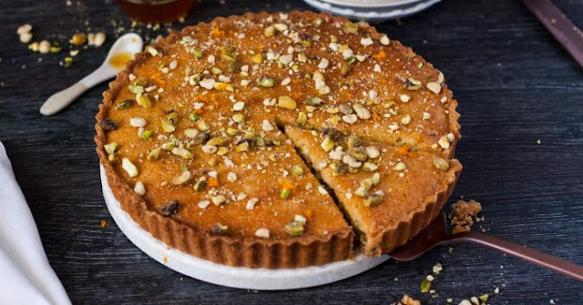 This Baklava Frangipane Tart is a merging of cuisines Baklava Frangipane Tart Recipe
