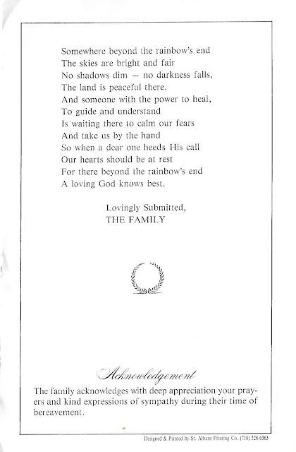 Sunday's Obituary: Janice Murrell's Funeral Program--How Did I Get Here? My Amazing Genealogy Journey