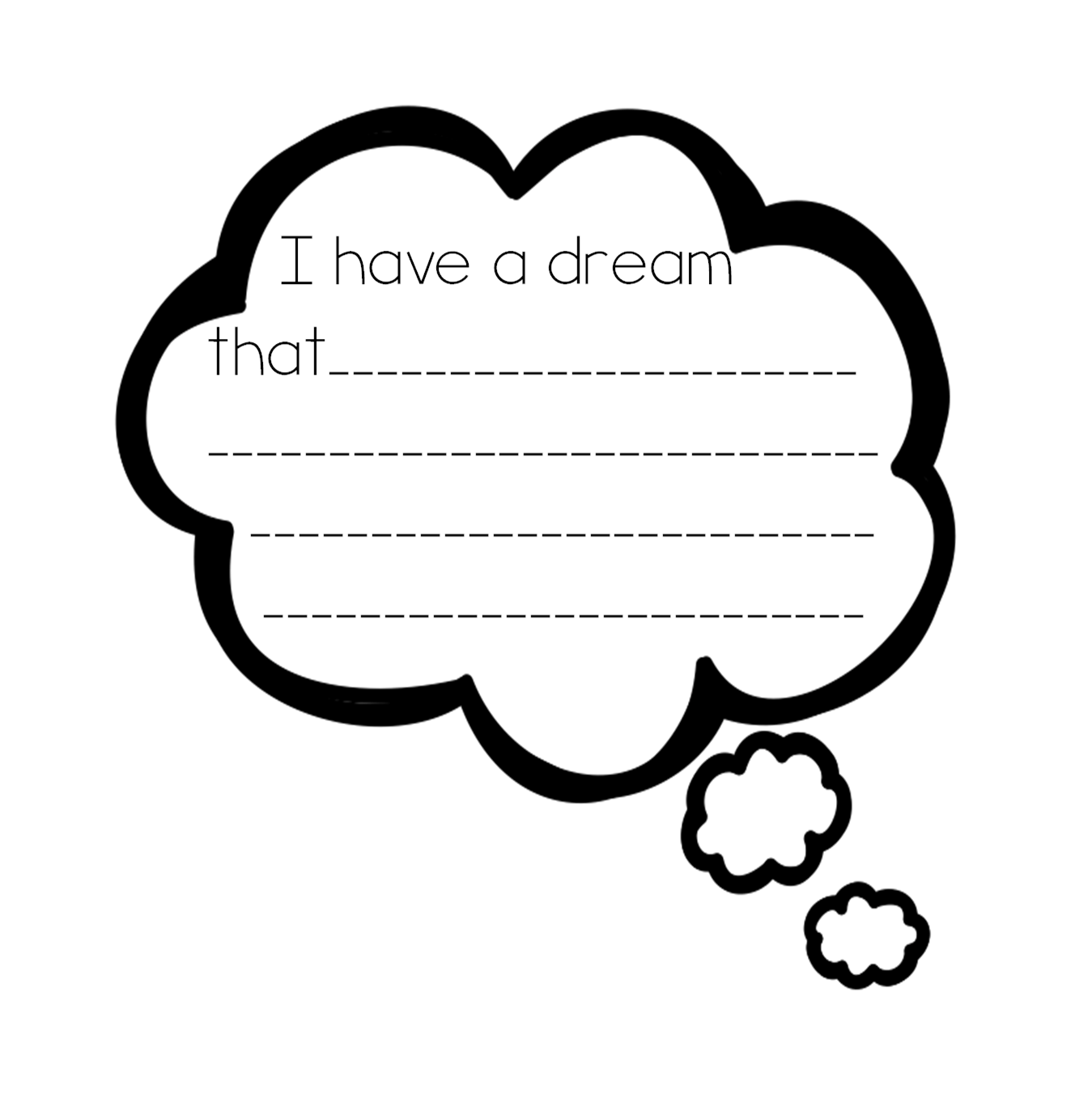 Dream Bubble Clip Art This Thinking Bubble And Images