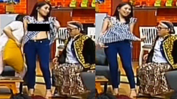 Astaga, Ayu Ting Ting Nggak Sengaja Buka Baju Saat Live Pesbukers ANTV