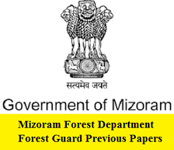 Mizoram Forest Department Forest Guard Previous Papers | LDC