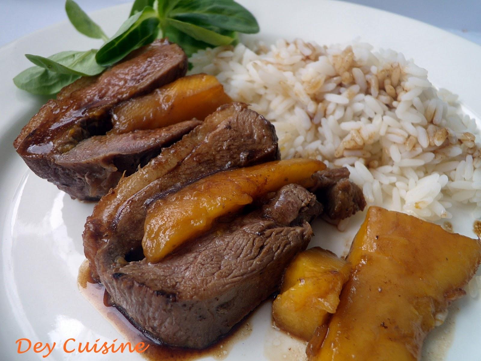 Dey cuisine r ti de canard la mangue - Cuisiner un filet de canard ...