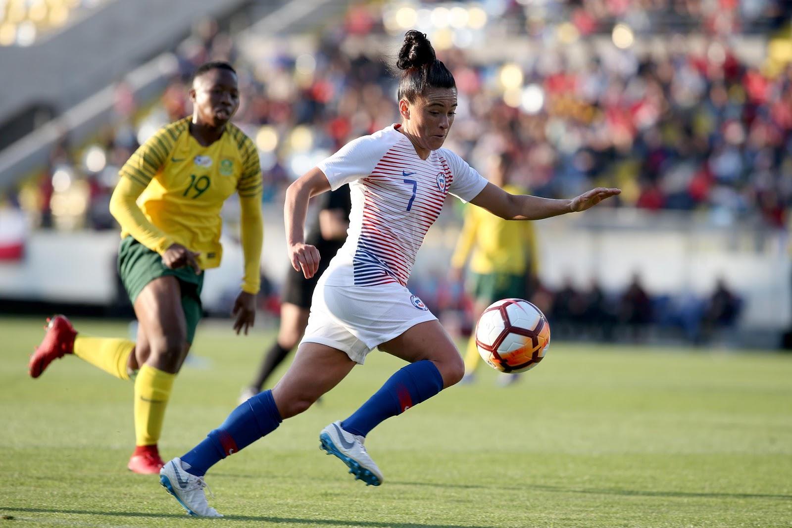 Chile y Sudáfrica en partido amistoso femenino, 6 de octubre de 2018