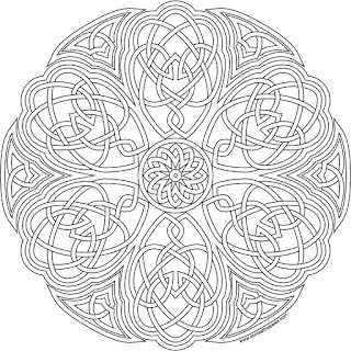 Knotwork flower to print and color- available in jpg and higher res transparent png