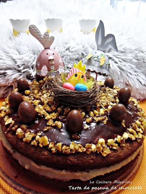 Tarta De Pascua De Chocolate