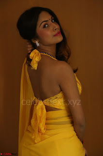 Nishigandha in Yellow backless Strapless Choli and Half Saree Spicy Pics 152.JPG