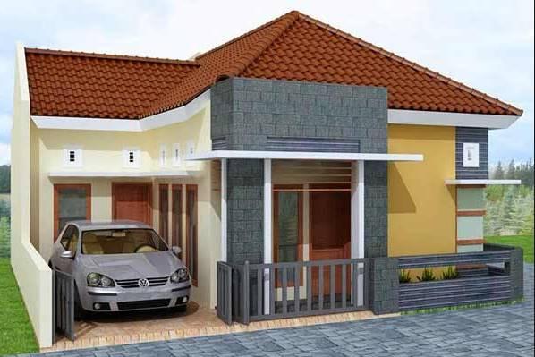 Desain Eksterior Rumah Mewah 1 Lantai  13 koleksi desain rumah minimalis 1 lantai type 36 koleksi