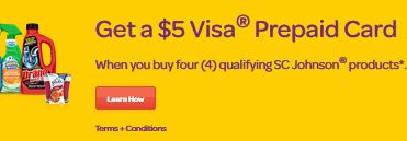 get 5.00 visa card when you buy 4 select products