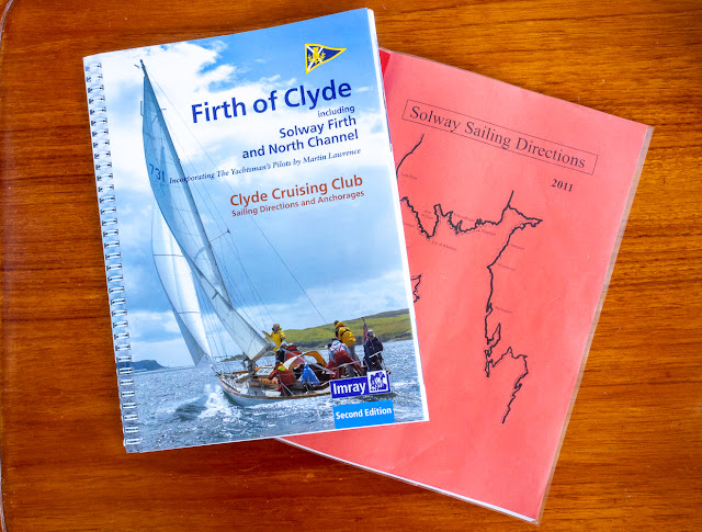 Photo of pilot books for the Solway Firth