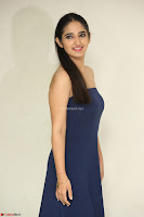 Radhika Mehrotra in sleevless Strap less Blue Gown At Prema Entha Madhuram Priyuraalu Antha Katinam Movie Interview ~  Exclusive 092.JPG