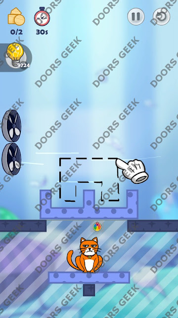 Hello Cats Level 207 Solution, Cheats, Walkthrough 3 Stars for Android and iOS