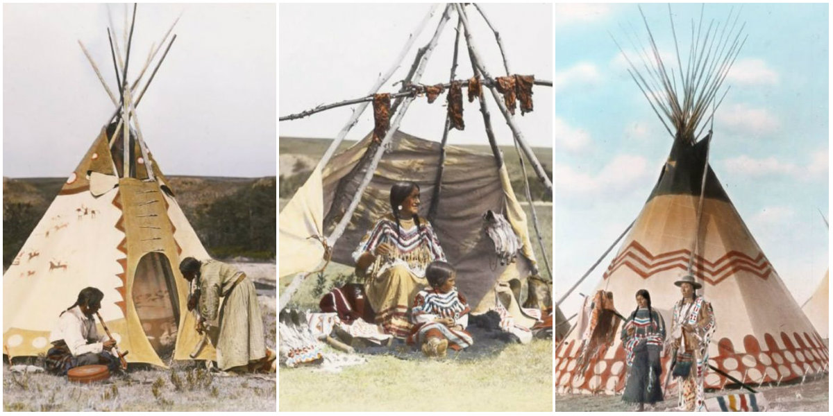amazing color photographs of the blackfoot and their homelands in