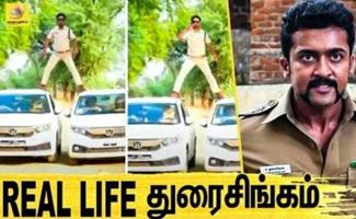 Sub Inspector Manoj Yadav Performs 'Singham Stunt'