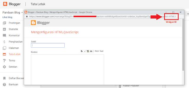 Cara Menemukan Widget ID Blogger