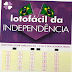 As dezenas mais sorteadas da lotofácil da Independência