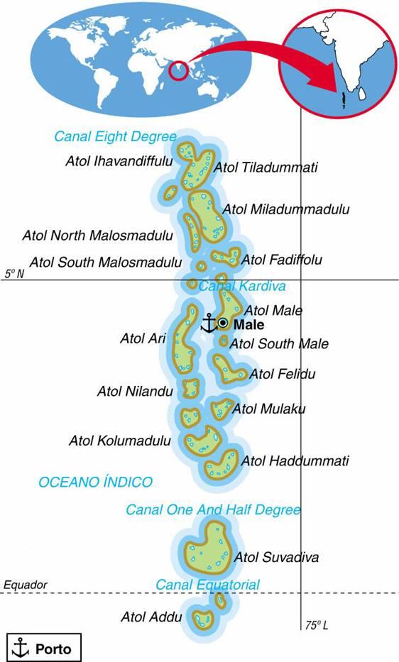 MALDIVAS, ASPECTOS GEOGRÁFICOS E SOCIOECONÔMICOS DE MALDIVAS