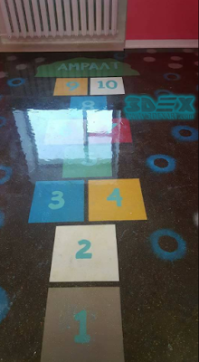 epoxy painted flooring games for mall hallway