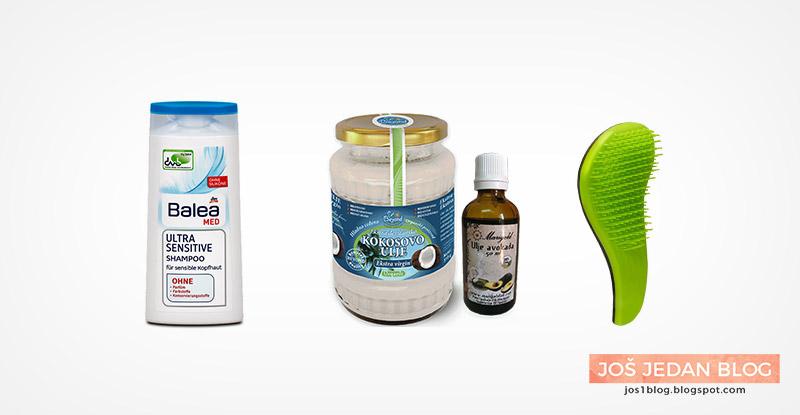 Balea Med Ultra Sensitive Shampoo šampon, domaća maska za lice sa kokosovo ulje i avokadovo ulje, Macadamia No Tangle četka za kosu, recenzija, utisci