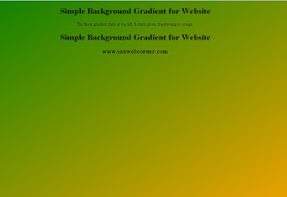 Simple Gradient Background for webpage using css3 code