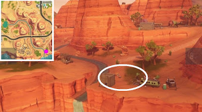 Fortnite, Skeet Shooting Location, Clay Pigeon Location, Paradise Palms, Map