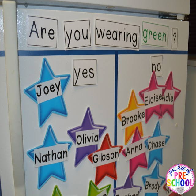 Question of the day in my preschool classroom. Tips and tricks to implement it in the classroom and WHAT students are learning. Perfect for preschool and kindergarten.