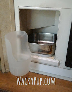 Spill-Proof Dog Water - Easy and Inexpensive! Full Tutorial - Plus more storage!