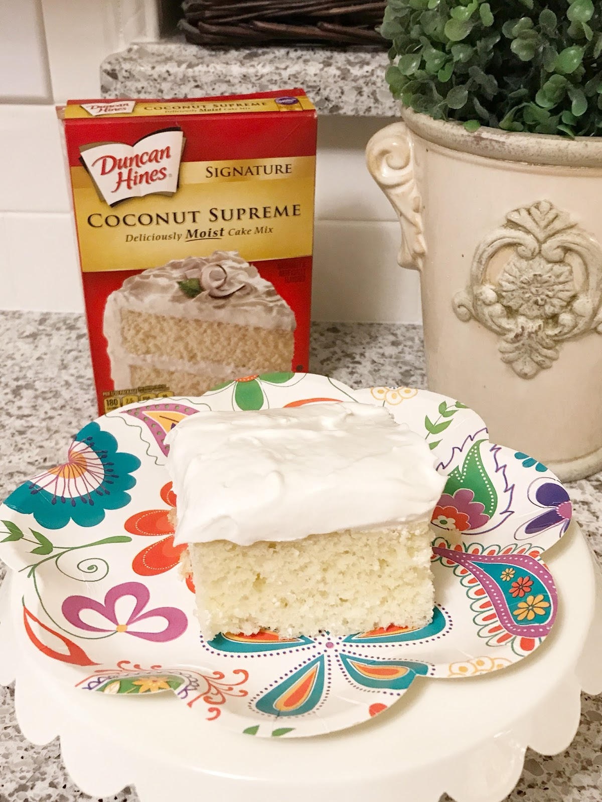 Duncan Hines Coconut Supreme Cake Mix