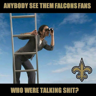 anybody see them falcons fans who were talking shit?