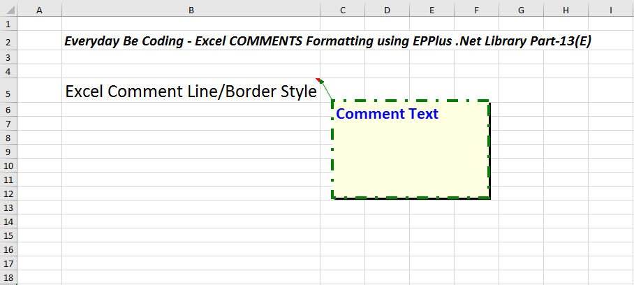 how to detect border color in excel