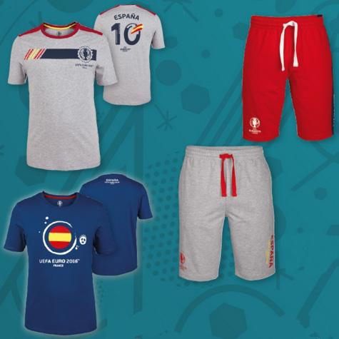 bermudas y camisetas fútbol España para hombre Euro lidl