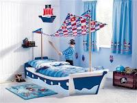 Increíbles camas que les encantarán a los pequeños barco pirata
