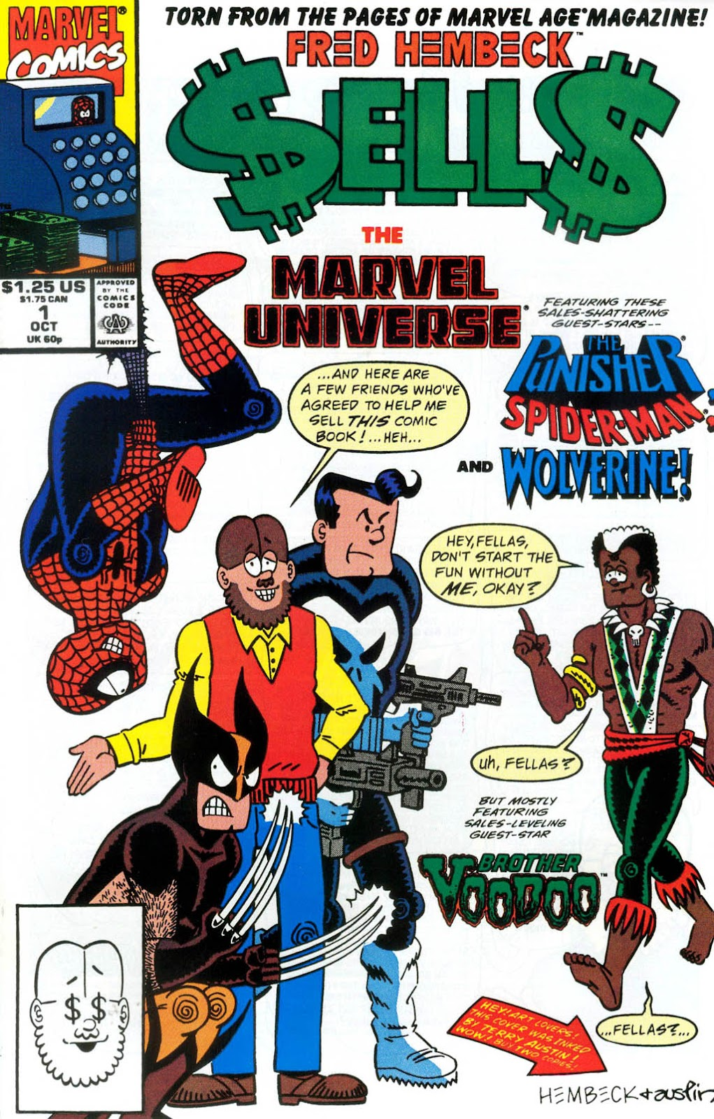 Fred Hembeck Sells the Marvel Universe issue Full - Page 1