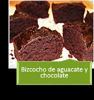 BIZCOCHO DE CHOCOLATE Y AGUACATE