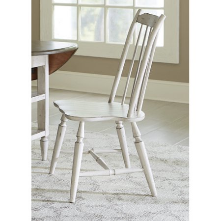 White windsor chairs for kitchen