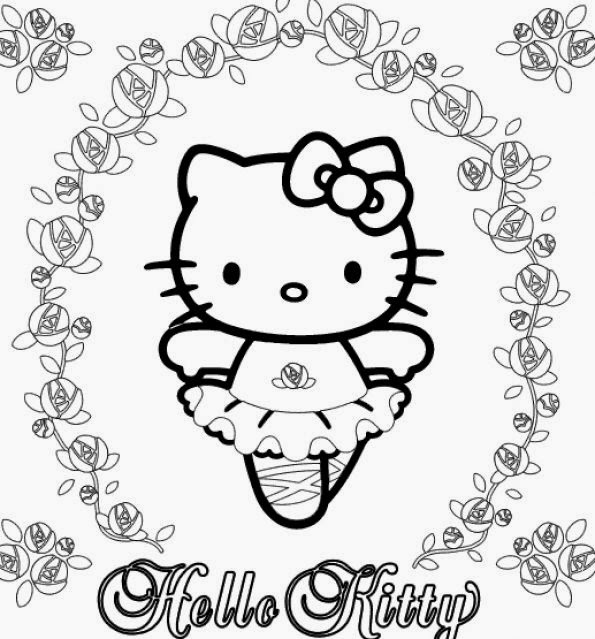 Hello Kitty Ballerina Coloring Pages widescreen
