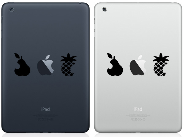 Pear, Apple & Pineapple iPad Mini Decals