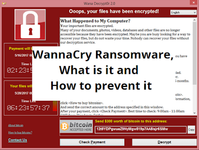 WannaCry Ransomware, What is it and How to prevent it