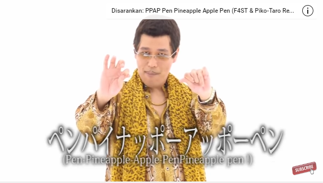 Durasi 45 Detik PPAP Masuk Guinness World Records