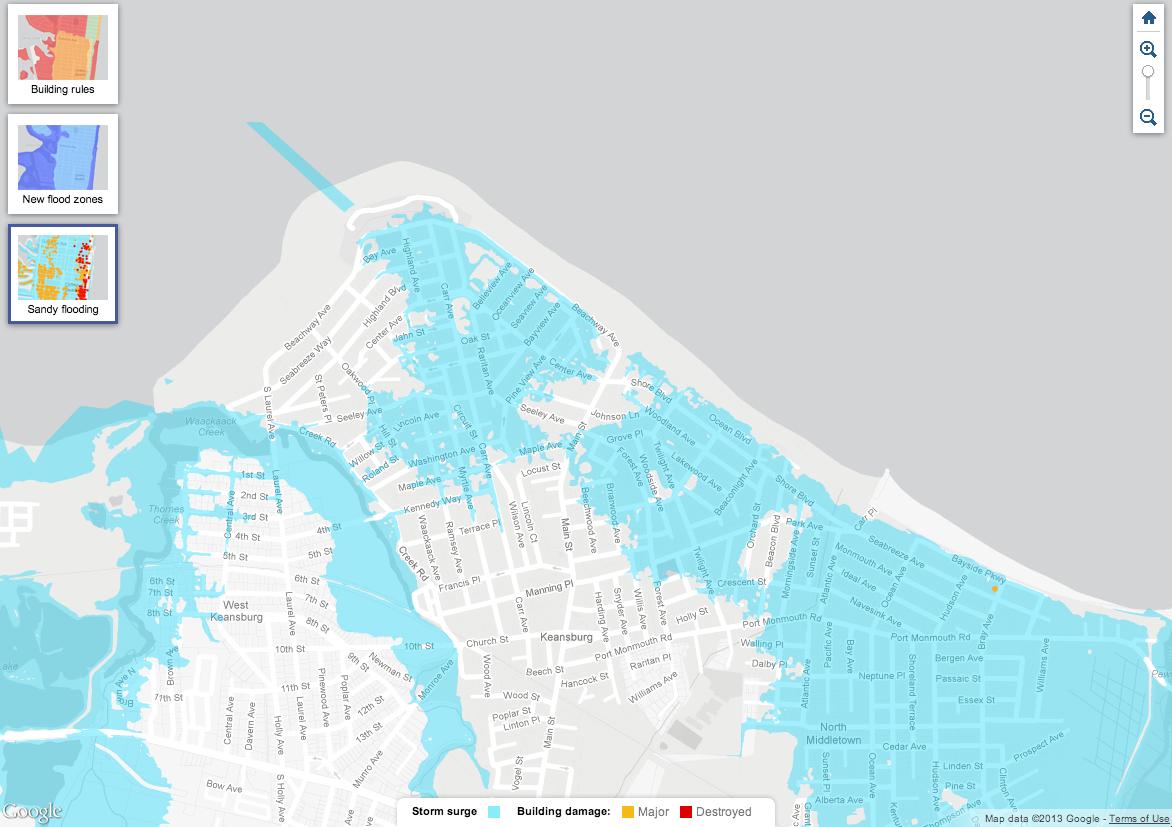 Keenbug: Hurricane Sandy Flooding & Damage Maps of New Jersey on fema new flood elevation map, brigantine nj fema flood insurance map, flood insurance bedford ny map,