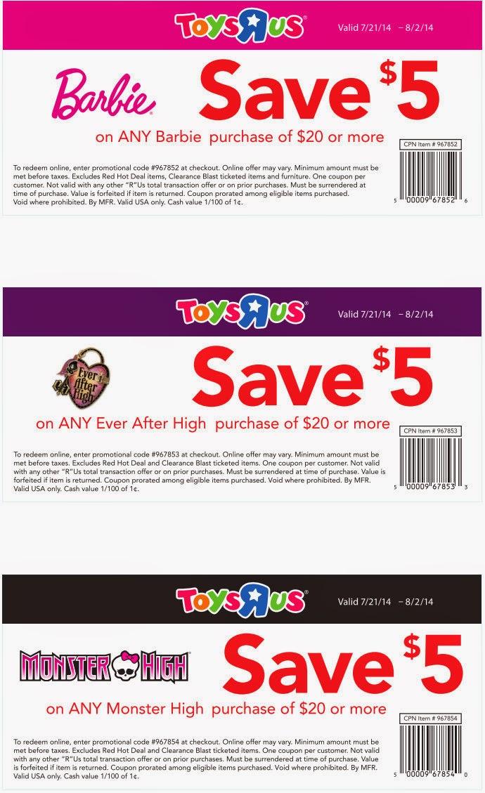 Toysrus discount coupon