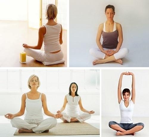 La postura básica sentada con las piernas cruzadas en yoga se llama  Sukhasana en sánscristo 19fe98363fd0