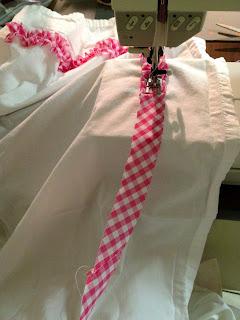 adding ruffle to bedskirt
