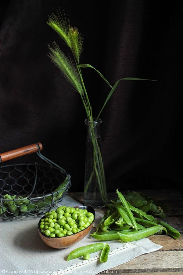 makaron z pesto ze świeżego zielonego groszku