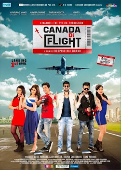 Poster Of Pollywood Movie Canada Di Flight (2016) 100MB Compressed Small Size Mobile Movie Free Download worldfree4u.com