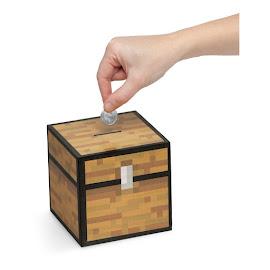 Minecraft ThinkGeek Chest Bank Gadget