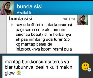 Testimoni Pengguna Sinensa Beauty Slim Herbal BSH BPOM