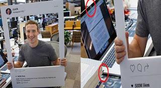 صورة لـزوكربيرغ و هو يغطى كاميرا وميكروفون حاسوبه خوفا من التجسس