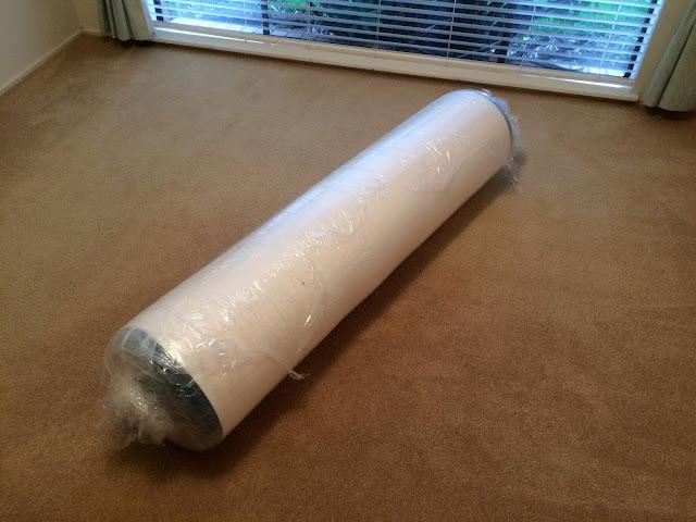 Koala mattress rolled up