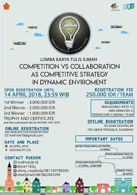Lomba Karya Tulis Ilmiah INSTHINK 2018 UBAYA